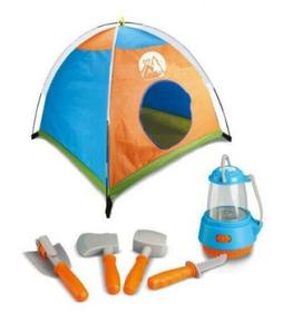 Kids Tent Camp Set Pretend Play Tools Light Up Lantern Knife
