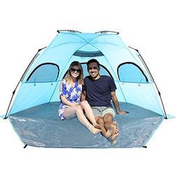 KingmysOutdoor Deluxe Beach Tent, Quick Portable, UV Sun Spo