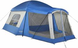 Wenzel Klondike 8 Person Cabin Tent with Screen Porch - Blue