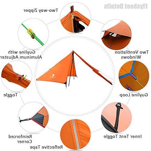 Geertop 3 Season Ultralight Tent for Camping Climbing