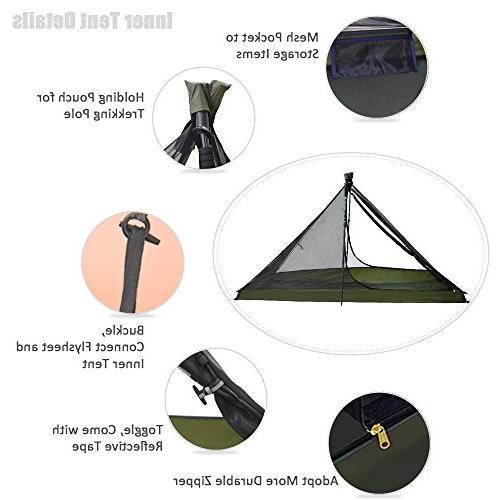 Geertop 1 Person Season Ultralight Tent for