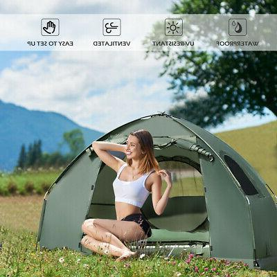 1-Person Compact Portable Tent w/ Mattress & Sleeping