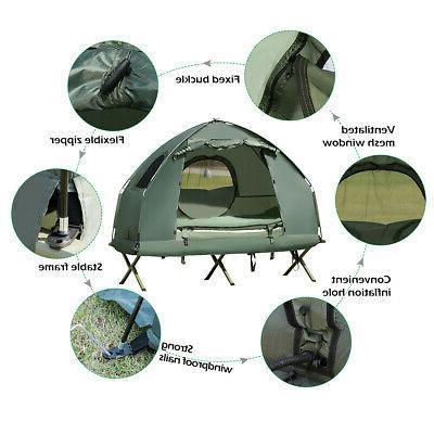 1-Person Compact Pop-Up Tent w/ Mattress