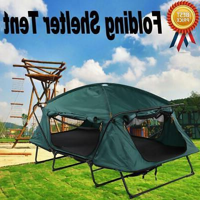1 Person Elevated Folding Camping Shelter Tent Cot
