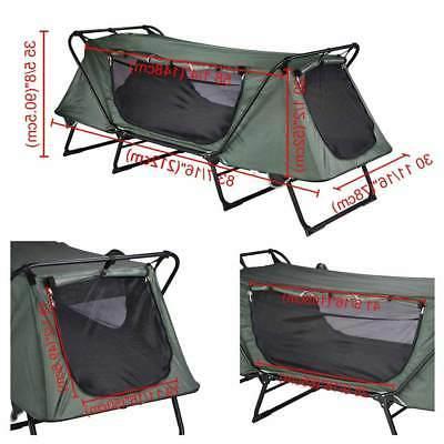 1-Person Camping Cot Waterproof Hiking Bed Bag
