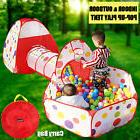 Newest 3 In 1 Children Baby Kids Play Tent Tunnel Play House