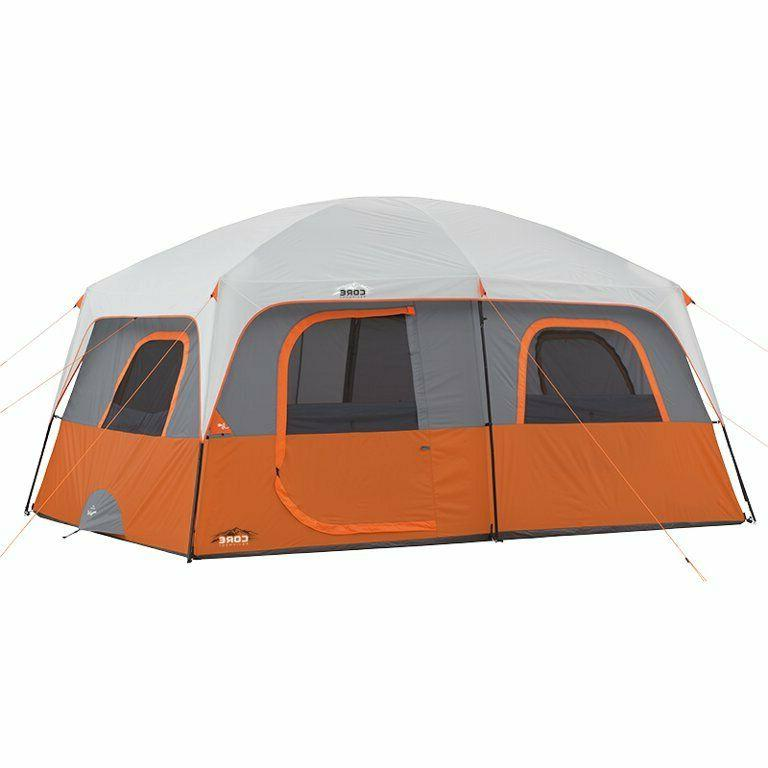 10 person straight wall cabin tent 14