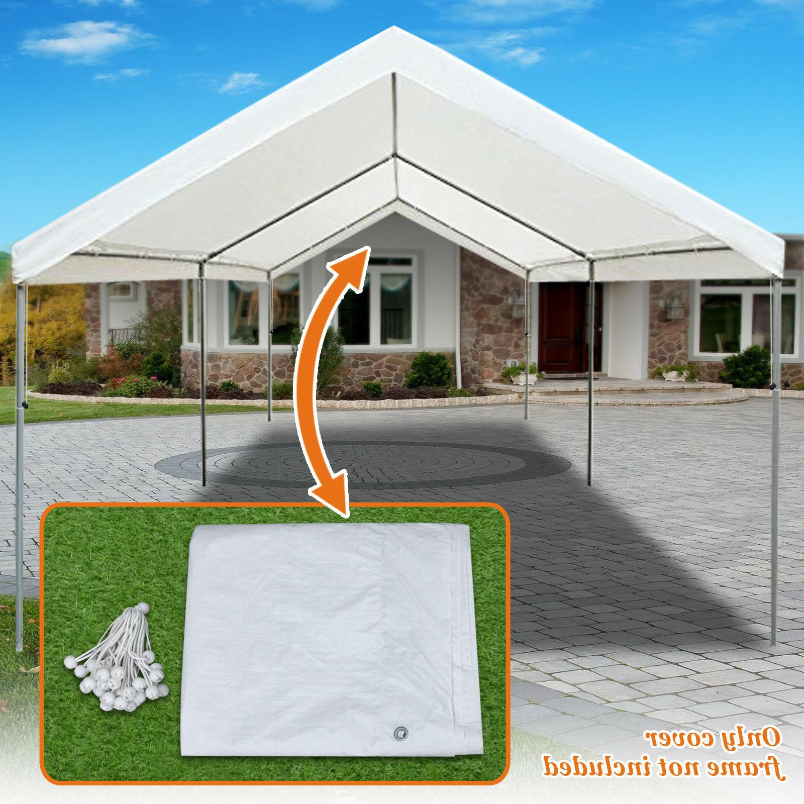 10'x20' Carport Replacement Canopy Cover for Tent Top