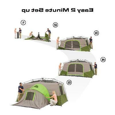 Ozark Trail Instant Tent 11-Person Cabin Camping Private Roo