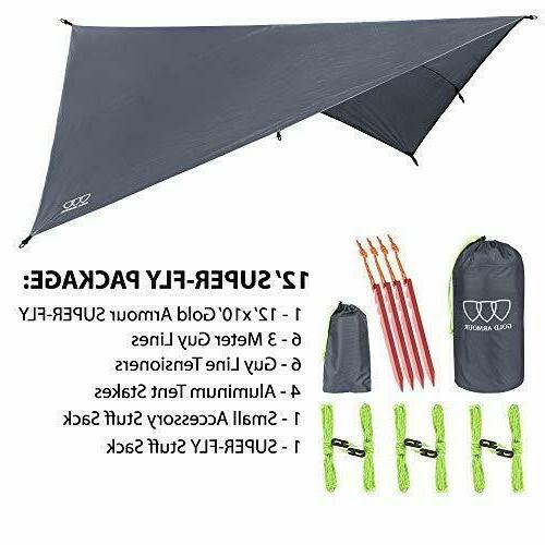 """12"""" Fly Tent Camping Rain"""