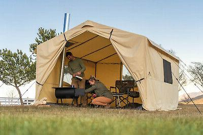 12x10 Ozark Trail Wall Tent North Fork Outfitter with Stove