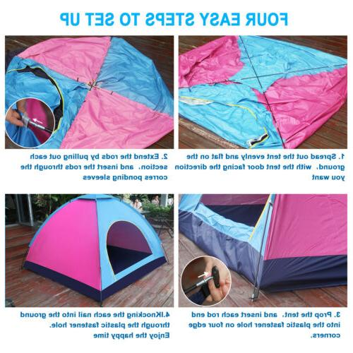 4 Dome Tent Waterproof Canopy
