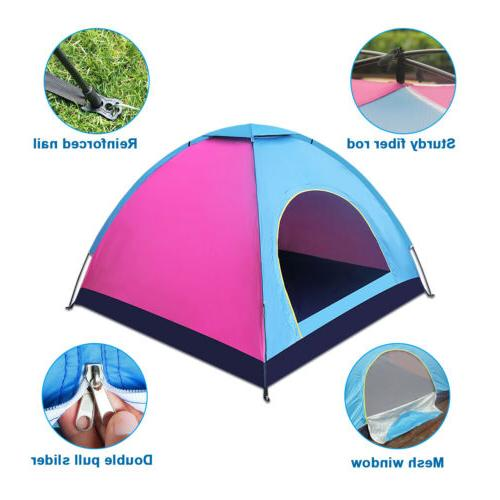 4 Person Camping Dome Tent Up Waterproof