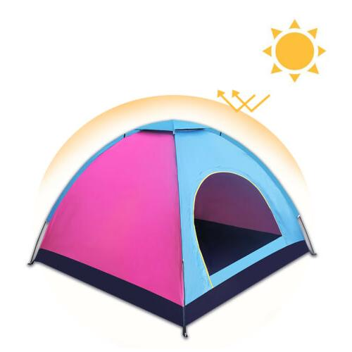4 Person Tent Instant Waterproof Double Canopy US