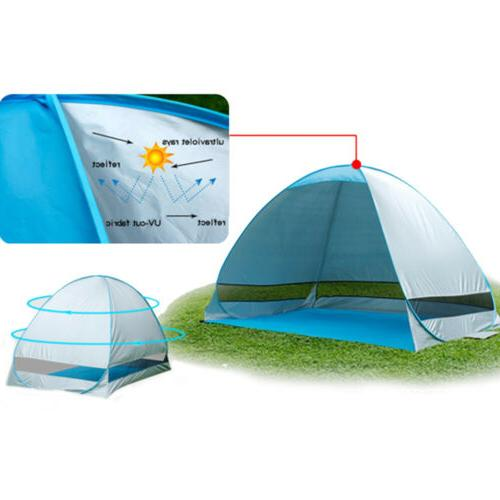 2-3 Person Pop Beach Canopy Automatic Instant Camping Tent Shade Shelter