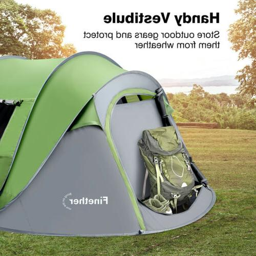 5 Person Automatic Up Instant Family Camping Tent