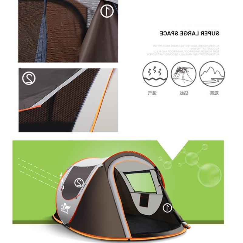 2-8 Camping Automatic <font><b>Tent</b></font> Family Outdoor Instant 4 Season