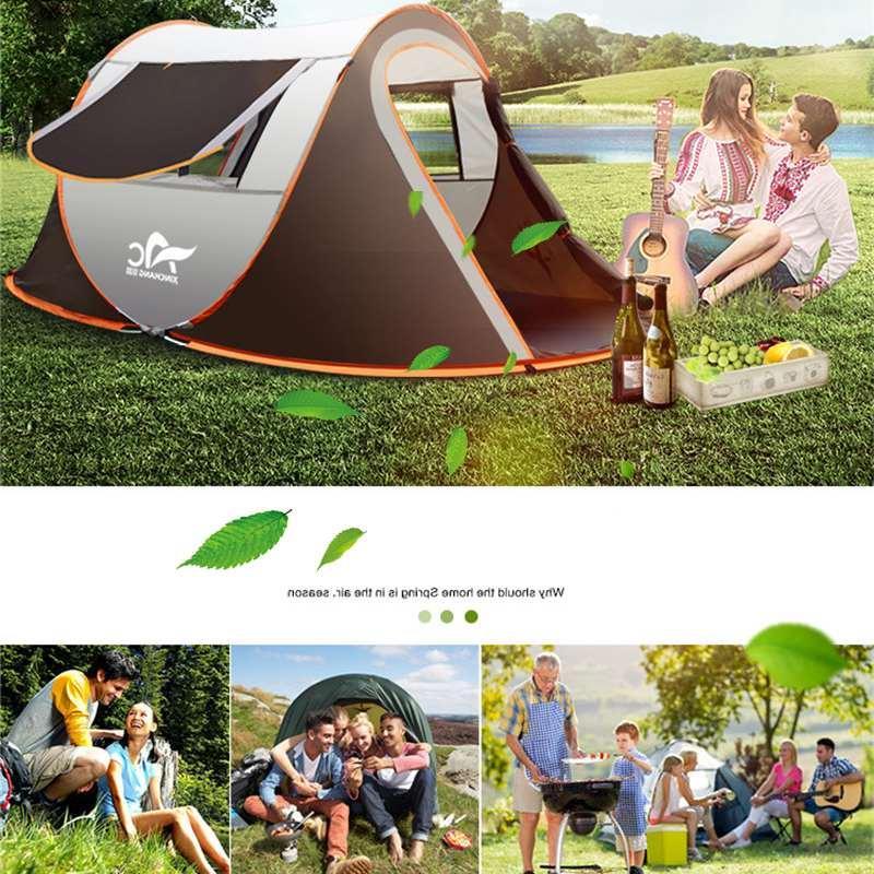 2-8 Camping <font><b>Tent</b></font> Windproof Automatic <font><b>Tent</b></font> Outdoor 4