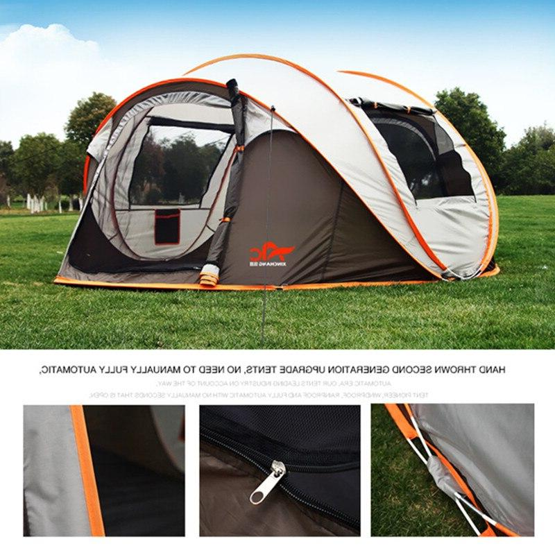 2-8 People Fully Camping Automatic Pop-up Family Outdoor Instant 4 Season