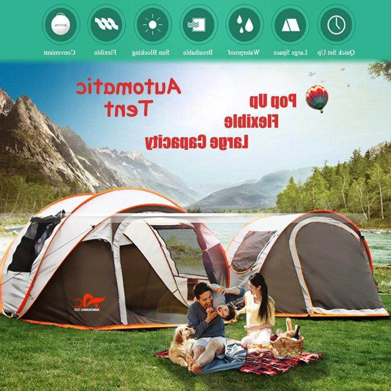 2 8 people fully automatic camping font
