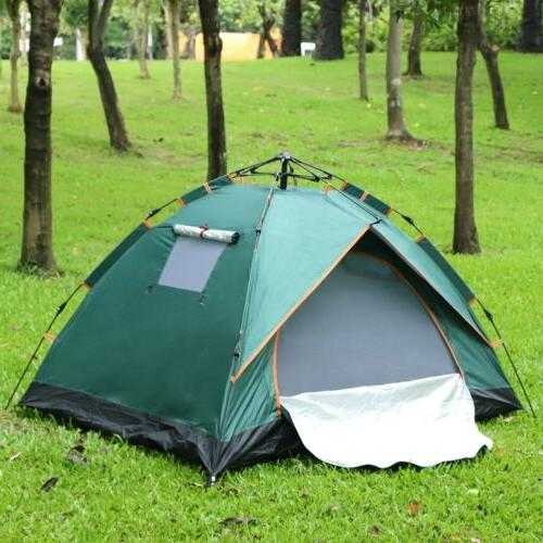 2 Person Automatic Tent +3 Windows Camping Outdoor Pop-Up Hi