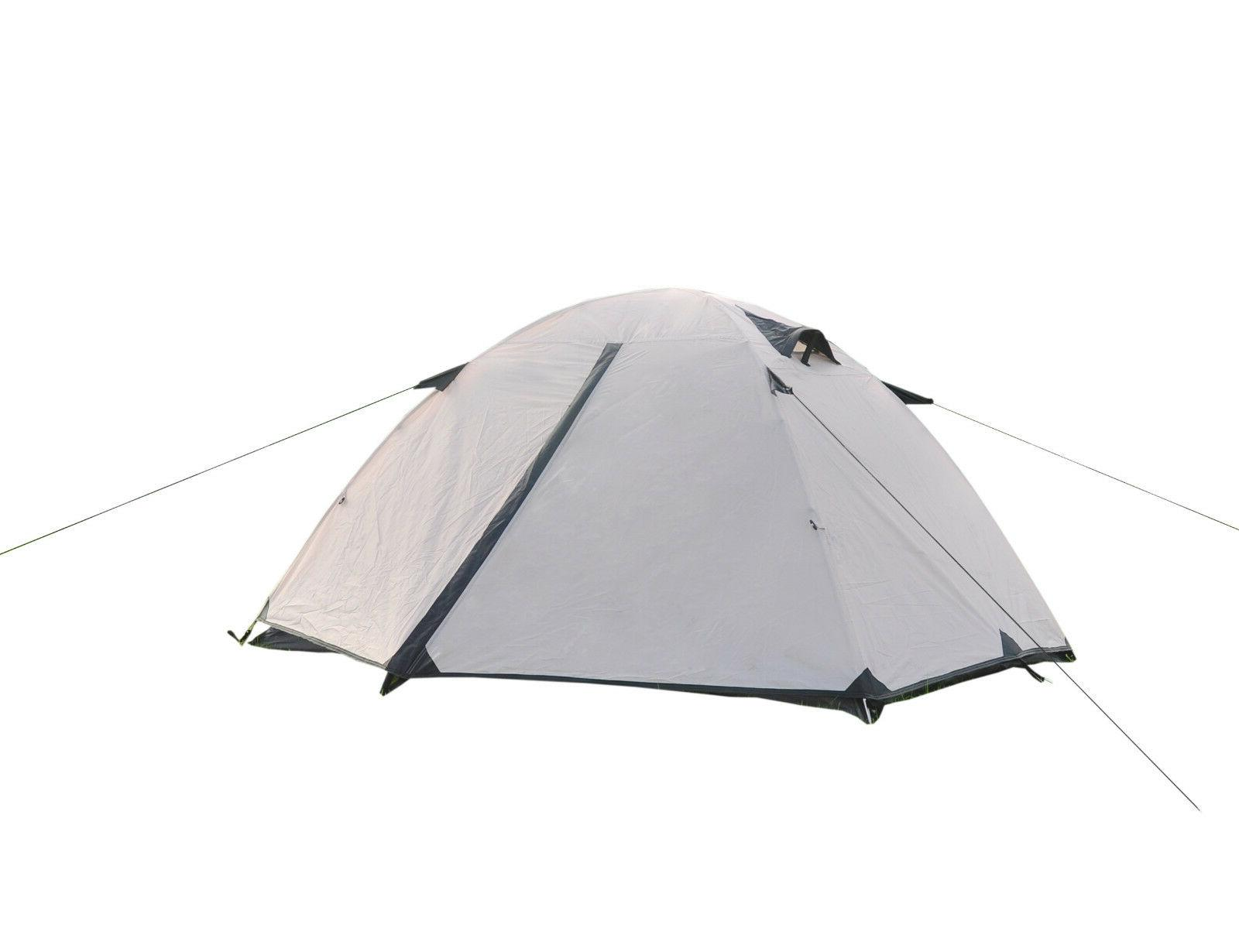 2 Person Camping Tent Double Layer Dome Travel