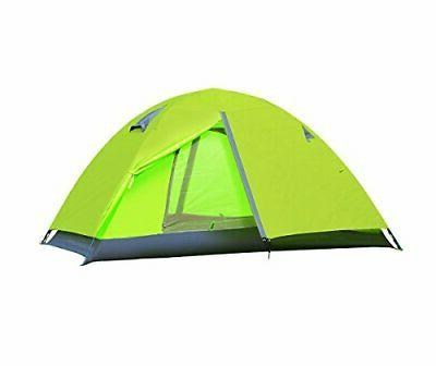 2 Person Waterproof Lightweight Double Layer Camping Tent Ba