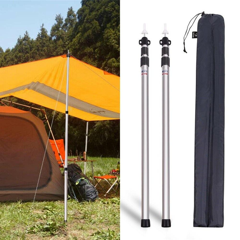 set of 2 aluminum adjustable camping tarp