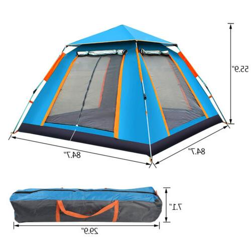 3-4 People Cabin Camping Hiking Tent Outdoor Sun