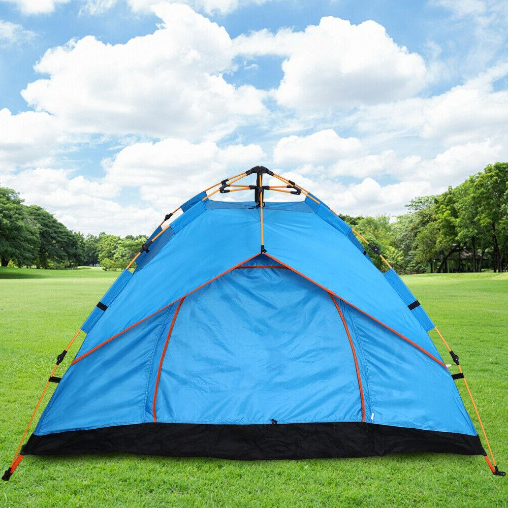 US Pop-Up Outdoor Tent Backpacking Tents Waterproof
