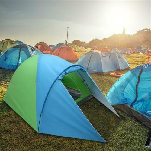 3-4 Person Pop-Up Tent Layer Hiking Travelling.