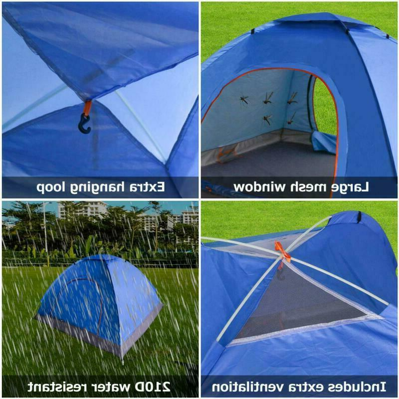 3-4 Person Camping Easy Folding Tent