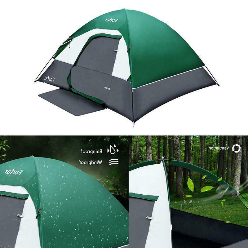 3-4 Camping Waterproof 4 Tent Green