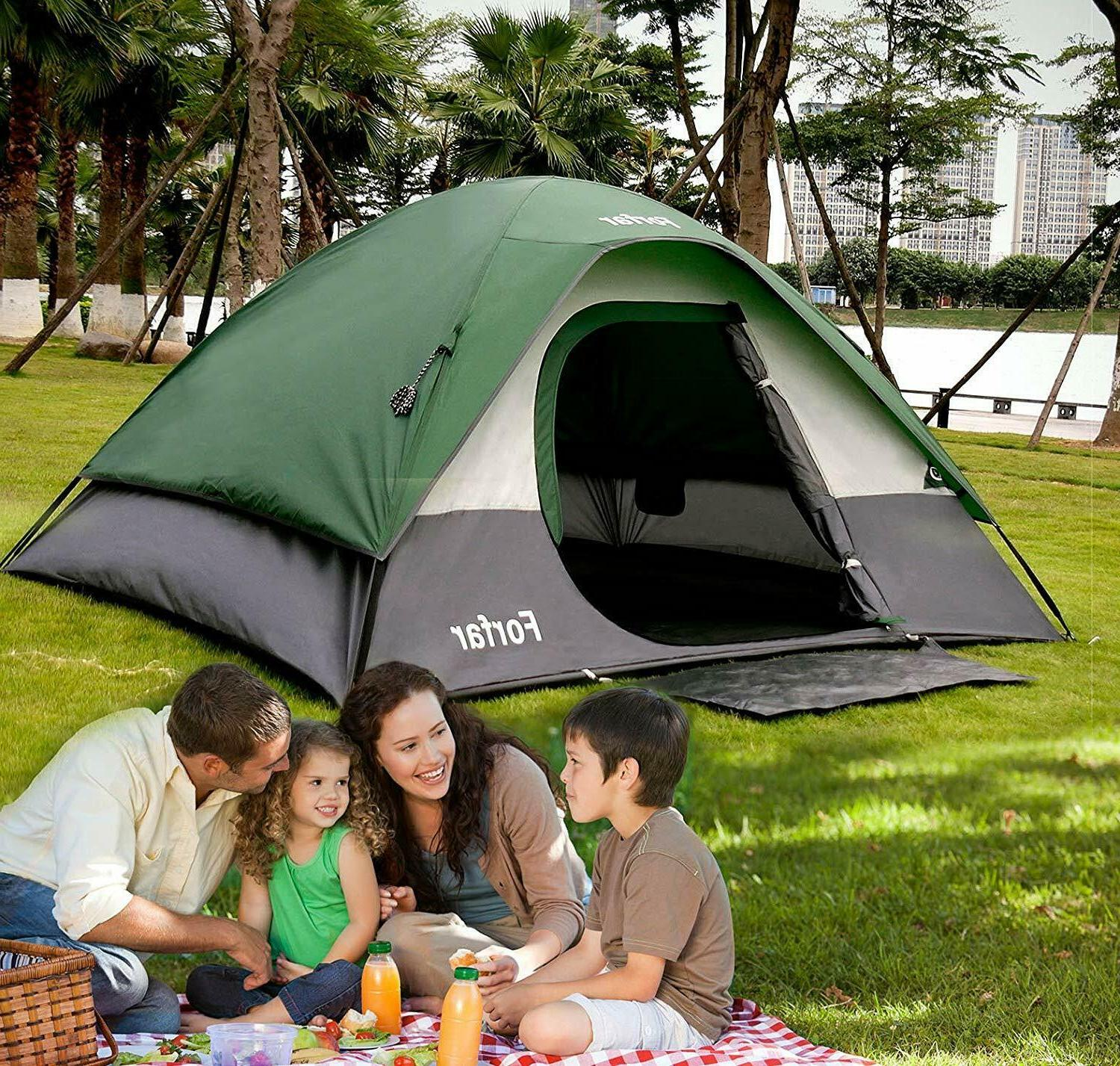 3 4 person camping dome tent waterproof