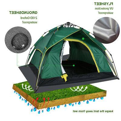 3-4 Person Automatic Quick Open Outdoor Camping Waterproof F