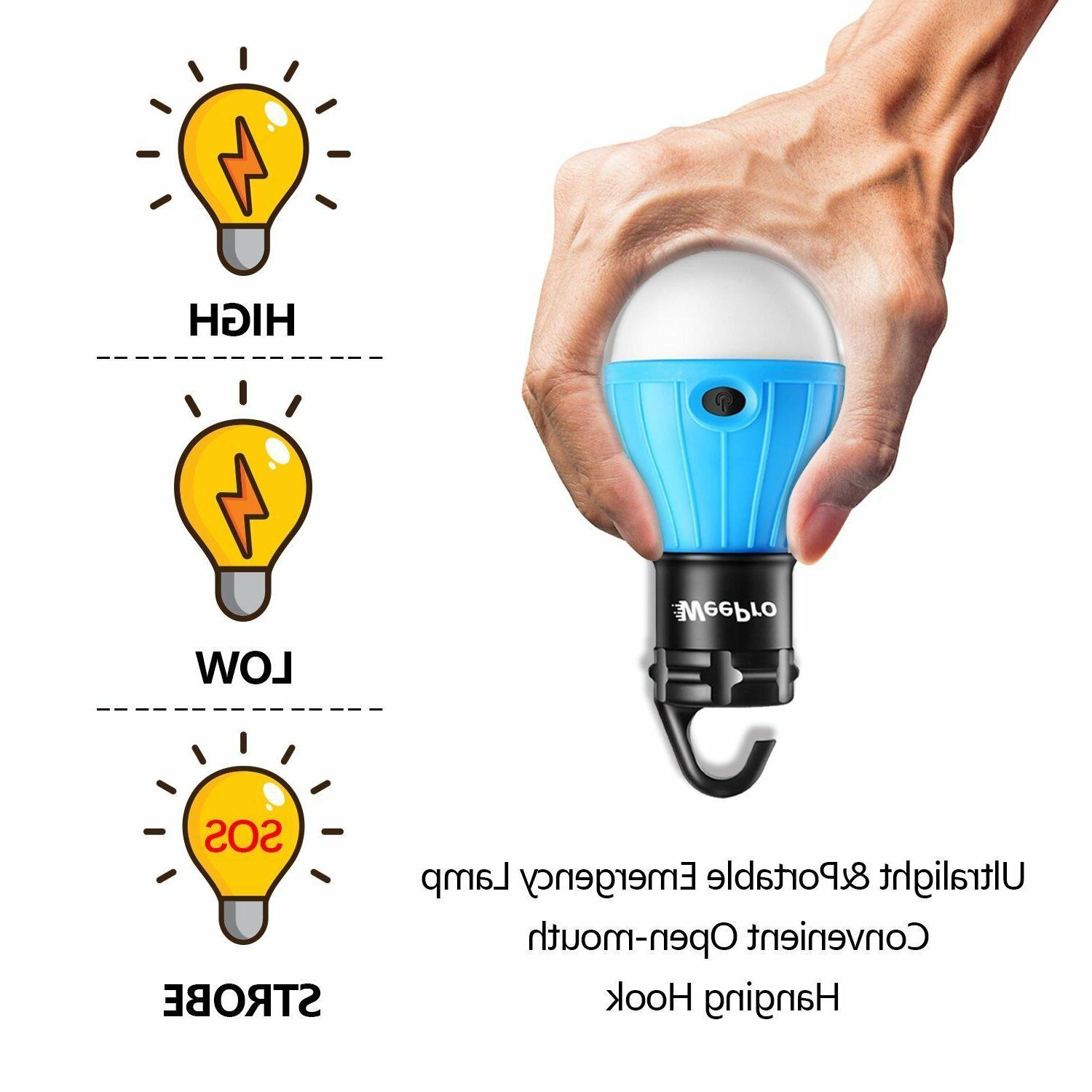 3 LED Portable Camping Tent Emergency Hiking Outdoor Light Lantern Bulb US