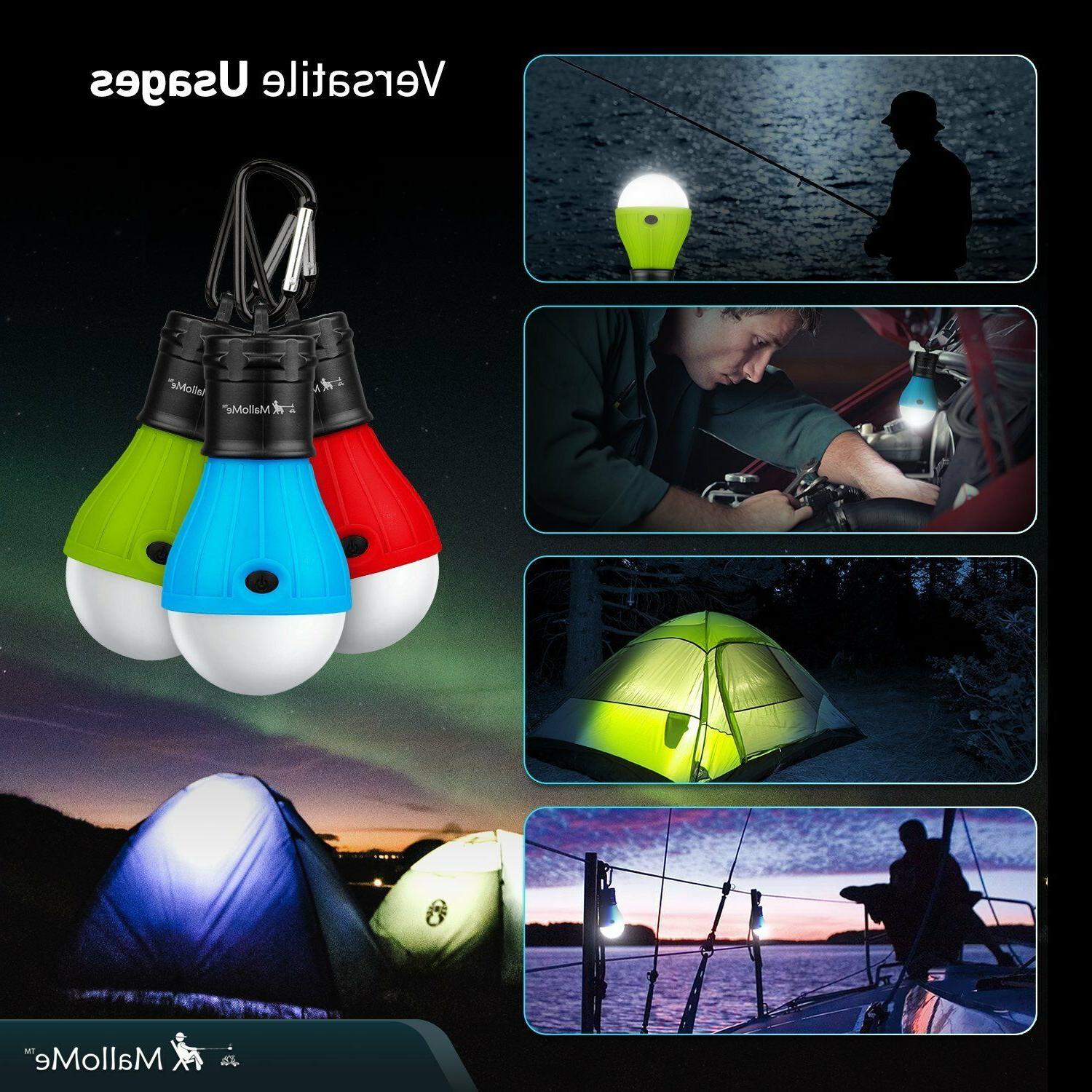 3 led portable camping tent lamp emergency