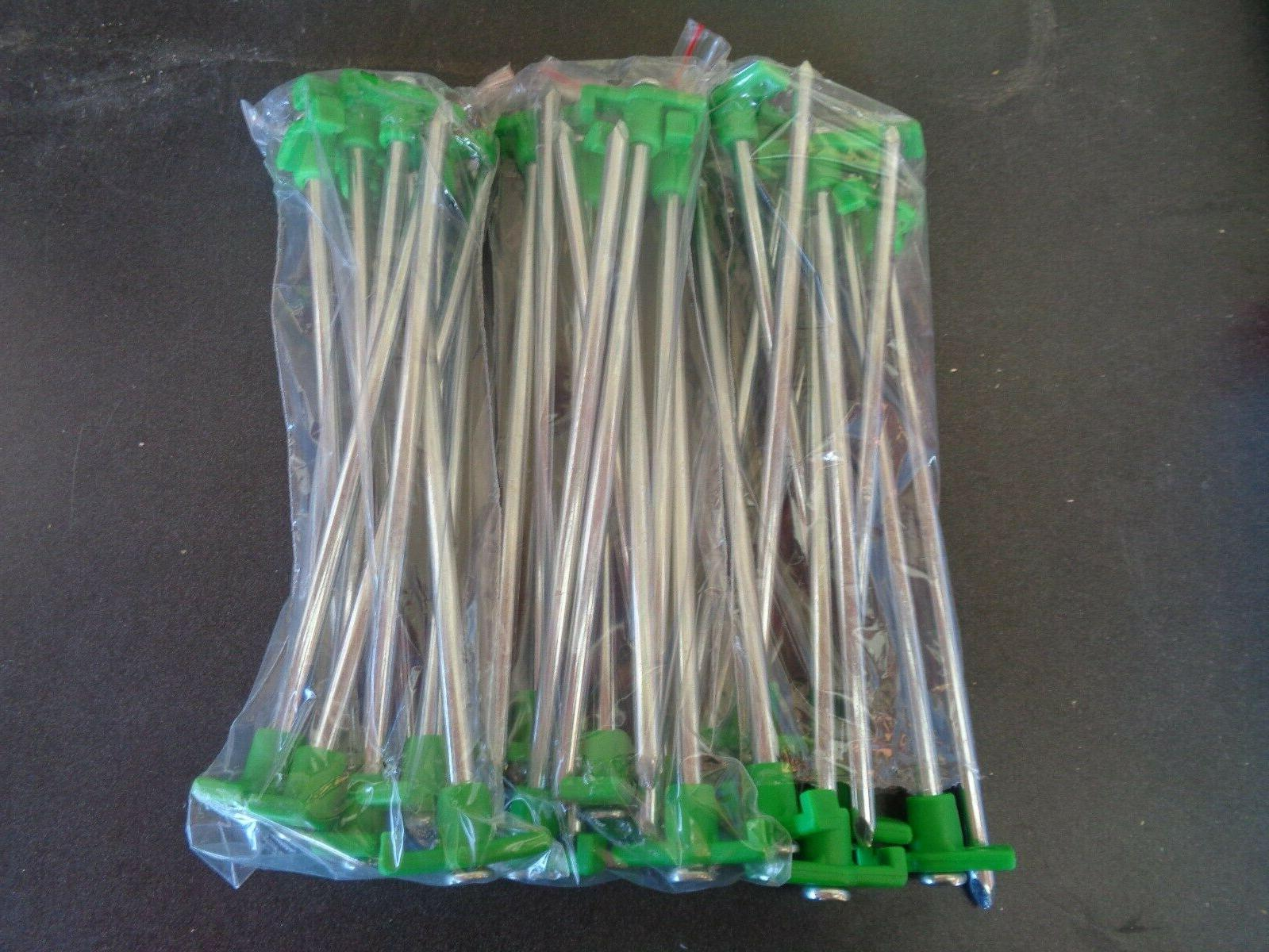 30 green tent stakes pegs heavy duty