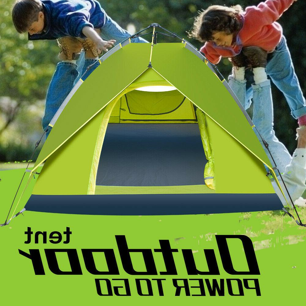 4-5 People Automatically Outdoor Tent With Rainfly Instant P