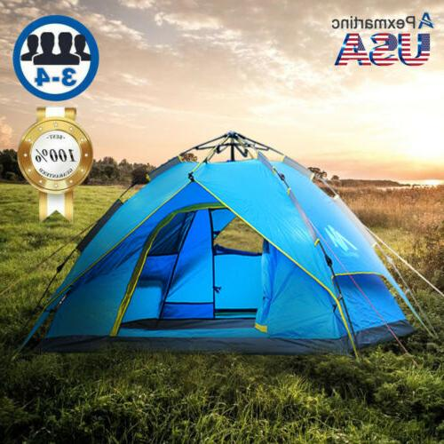 4 5 person dome family camping tunnel