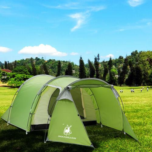 5-6 Person Tunnel Two-Room Hiking Tent