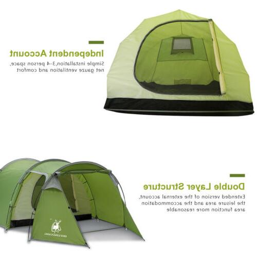 4-5 Person Family Tunnel Cabin Waterproof