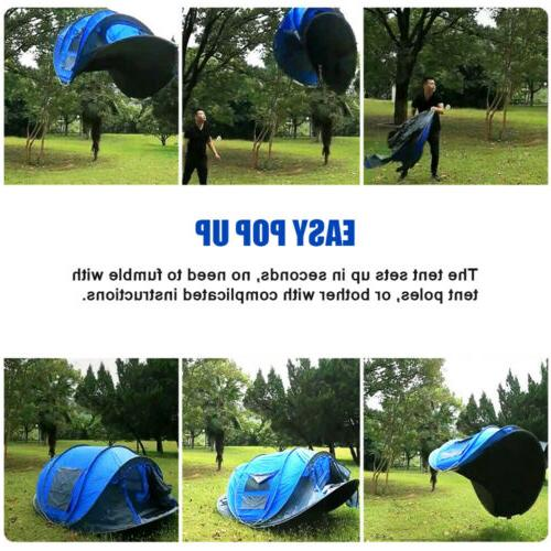 3-4 Up Waterproof Backpacking Instant Tent