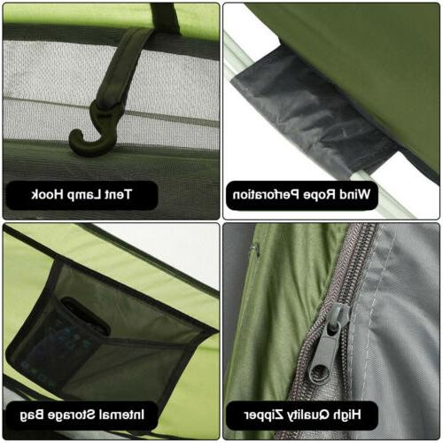 3-4 Family Up Camping Tent Waterproof Backpacking