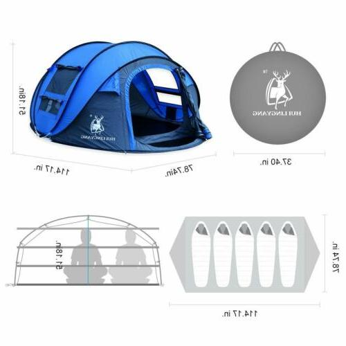 4-5 Camping Tent Waterproof