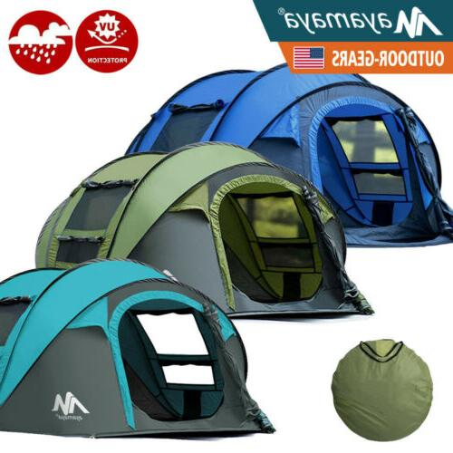 4 5 person pop up camping tent