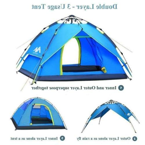 4-5 Person Waterproof Pop Up Tent Camping Picnic