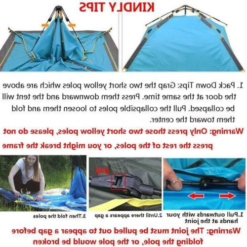 4-5 Person Pop Up Tent Camping Hiking Picnic