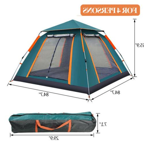 4-6 Instant Up Camping Waterproof Hiking Canopy