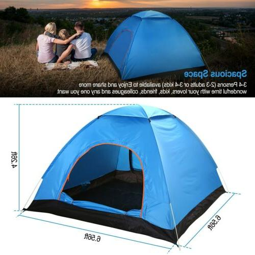 4-Person Instant Camping Shelter Waterproof US